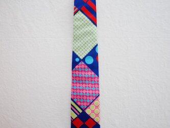 アフリカンプリントx播州織ネクタイ colorfulの画像