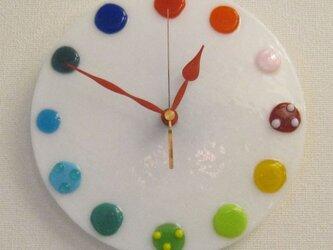 おしゃれで可愛いインテリアにもなるアートな青い時計T31の画像