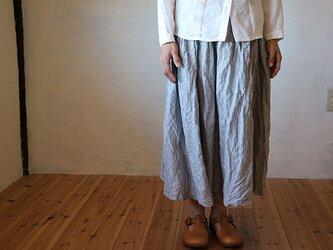 ギャザースカート:ストライプの画像