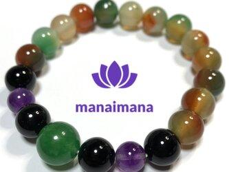【manaimana】17〜17.5cm ♂♀兼用 富と繁栄と健康祈願のブレスレットの画像