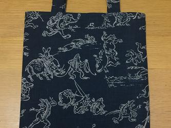 和柄トートバッグ~鳥獣戯画の画像