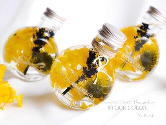 大人可愛い ハーバリウム*ラベンダーと紫陽花の2wayラウンドミニボトル*イニシャルチャーム追加可の画像