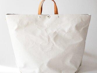 【N/no & E/zel.】tsubura/b_LEATHER HANDLE SHOULDER BAG(L)/NATURALの画像