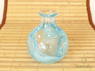 ◆ガラスで晩酌◆淡色徳利 水浅葱の画像