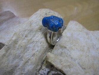 トルコ石原石ラフカットSVリングの画像
