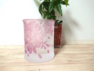 -八重桜 花吹雪- ロックグラス 単品pinkの画像