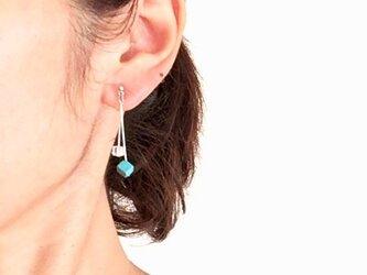 四角いturquoise&crystalの画像