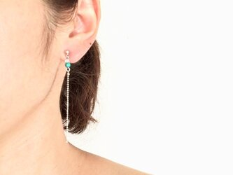 turquoise&crystal&chainの画像