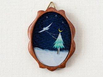 【送料無料】ちいさな絵02/クリスマスツリーの画像