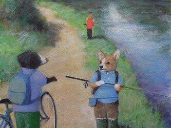 釣り・立ち話の画像