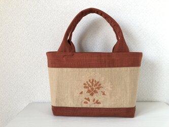 帯バッグ〜お花〜の画像