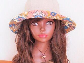 Hat : Retro flower - naturalの画像
