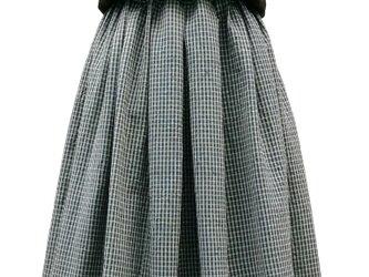 木綿着物のリメイクスカートの画像