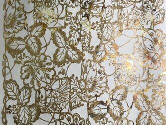 ギルディング和紙 花園柄生成和紙黃混合箔の画像