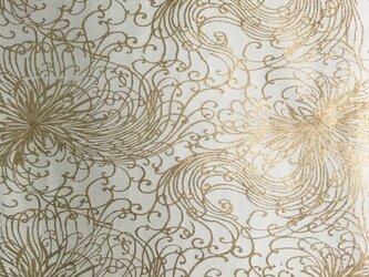 ギルディング和紙 糸菊柄生成和紙黃混合箔の画像