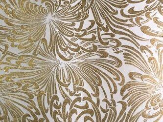 ギルディング和紙 乱菊柄生成和紙黃混合パウダー箔の画像