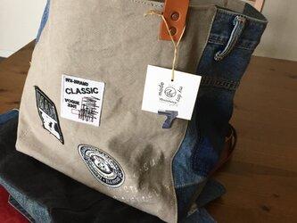 gallery■アメカジ好きさんのトートMプラスサイズ☆茶革#g117グレーの画像