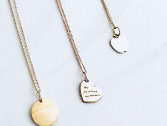 【Coeur L】 K10 恋するハートのネックレス 名入れジュエリー (受注生産)の画像