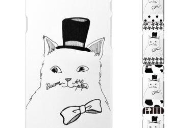 やっぱり猫が好き❤️ハットキャットロゴiPhoneケース ハードホワイト(5.6.7.8対応)の画像