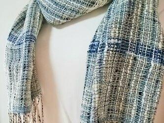 爽やかな手織りストールno.1の画像