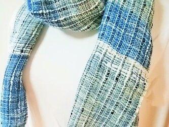 爽やかな手織りストールno.2の画像
