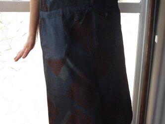 結城紬とリメイク大島紬のジャンバースカートの画像