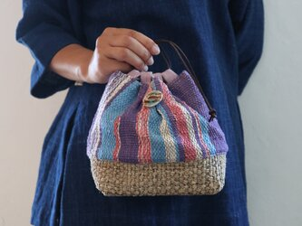 手織り巾着の画像