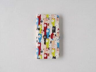 ルルさんのねこがいっぱい 手帳型スマホケースの画像