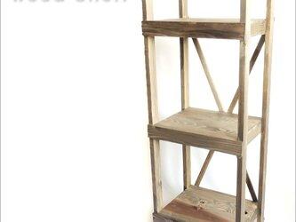 ウッドシェルフ ウオールナット ハンドメイド 受注生産 DIY 棚 シェルフ 収納ラック 収納棚 飾り台 靴置き の画像