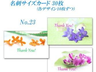 No.23 金木犀・桔梗・萩   名刺サイズサンキューカード   30枚の画像