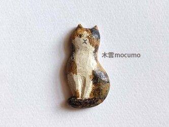 クスノキのブローチ *三毛猫* の画像