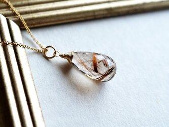 宝石質*ブラウンルチルクォーツ*大粒ペンダントトップ【14kgf】の画像