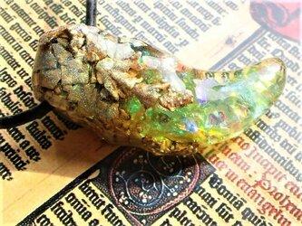 【海水浴OK!】虹古竜ドラゴライト竜爪ネックレスの画像