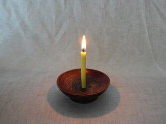 木と漆の燭台 楠 (cks1)の画像