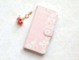 桜 iPhone/Android ケース【受注制作】手帳  アイフォンケース スマホケースの画像