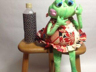 【夏休みセール】かえる娘さん(グリーン)の画像