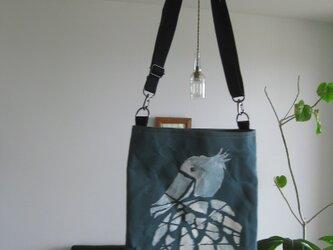 アフタヌーンバッグ ハシビロコウ モザイクの画像
