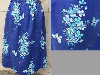 青い蝶の浴衣スカート&ブローチの画像