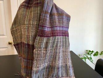 手織りランドスケープ・スカーフの画像