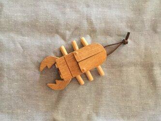 木のクワガタシ(受注制作)の画像