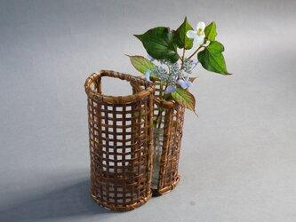 花籠 組筒 煤竹 燻煙千島笹の画像