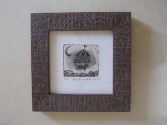 ミニ銅版画『待ち合わせ場所』の画像