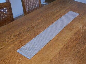 裂織 テーブルランナー 草木染・栗  ☆送料無料【017】の画像