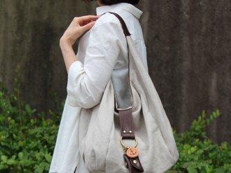 polta-linen-ダークブラウン(リネン帆布バッグ)の画像