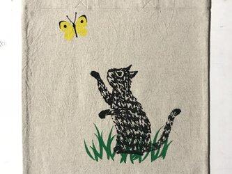 totebag - cat (綿×麻)の画像