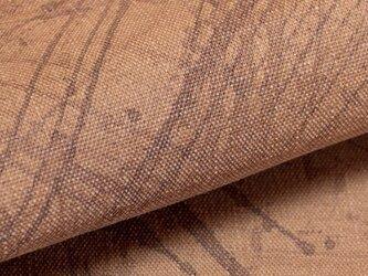 【オリジナル・108×50cm】カットクロス 柿渋染め手描き綿スラブ織[起毛加工仕上げ] VY5KS-G05-ktの画像