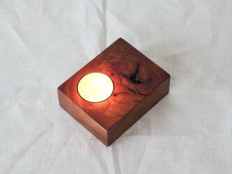 木と漆の燭台 欅 (cbky3)の画像