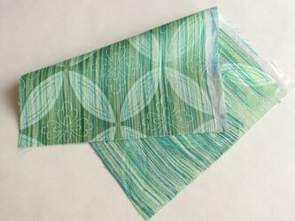 絹手染ハギレ(14cm×20cm 渋緑系)の画像