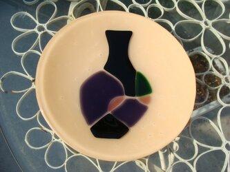 ガラスの皿・花瓶柄の画像