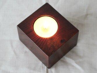 木と漆の燭台 欅 (cbky4)の画像